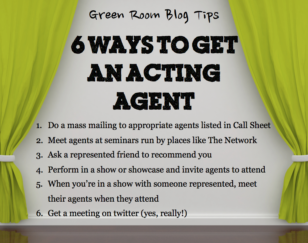 Ways to get an acting agent the green room for How to get quotes