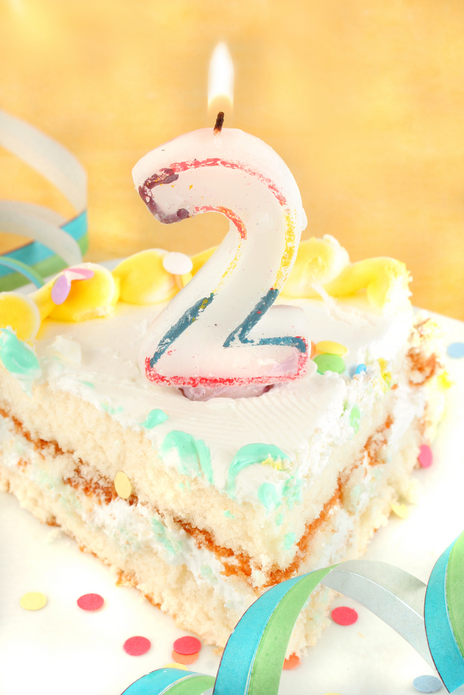 Happy 2nd Birthday Cake