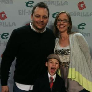 Dan, his wife and son enjoying a film premiere. (Personal Photo from Dan)